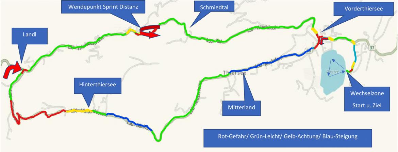 Triathlon Thiersee Radstrecke Kurzdistanz