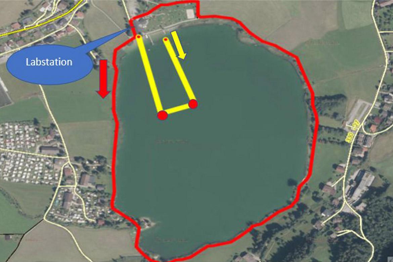 Triathlon Thiersee Schwimmstrecke