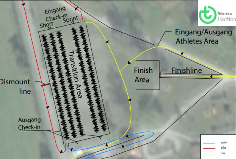 triathlon thiersee wechselzone im detail